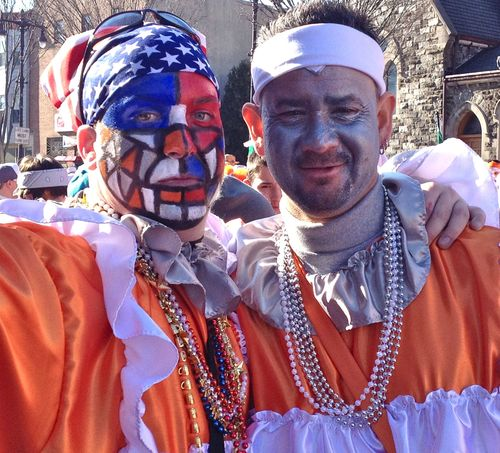 Mummers up close